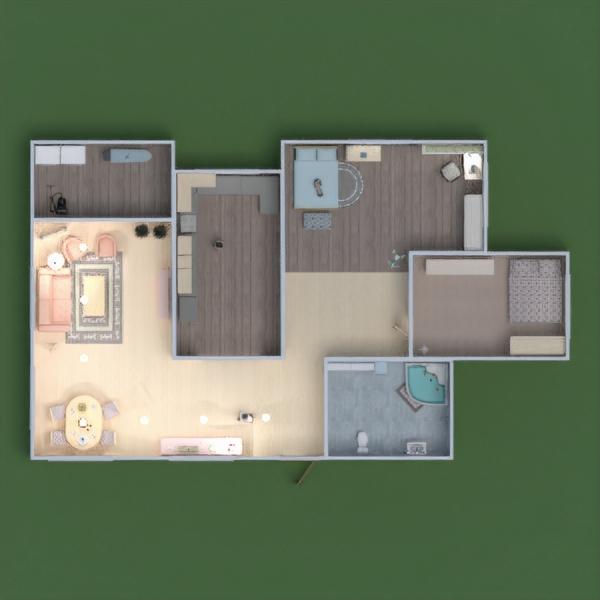 floorplans namas baldai dekoras pasidaryk pats vonia miegamasis svetainė virtuvė vaikų kambarys namų apyvoka valgomasis prieškambaris 3d