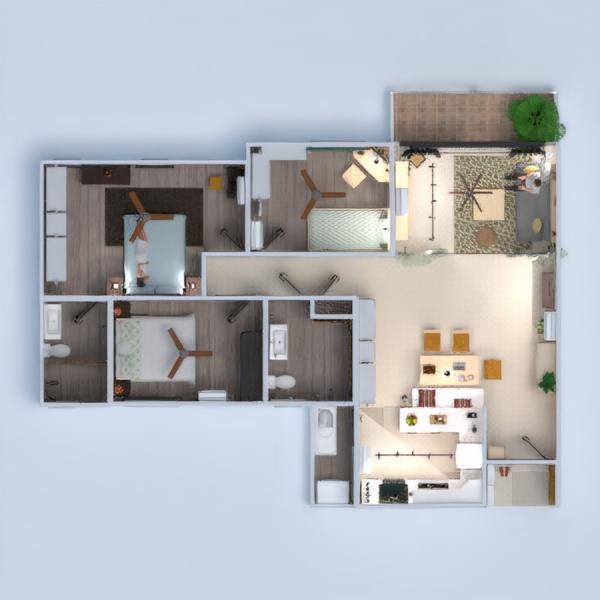 floorplans butas baldai dekoras pasidaryk pats vonia miegamasis svetainė virtuvė renovacija valgomasis sandėliukas 3d