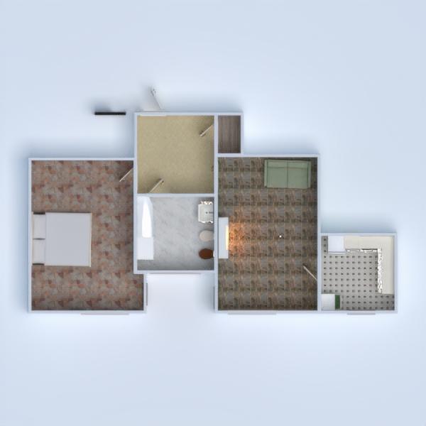 floorplans apartment living room 3d