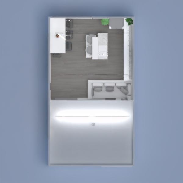floorplans salon cuisine eclairage salle à manger espace de rangement 3d