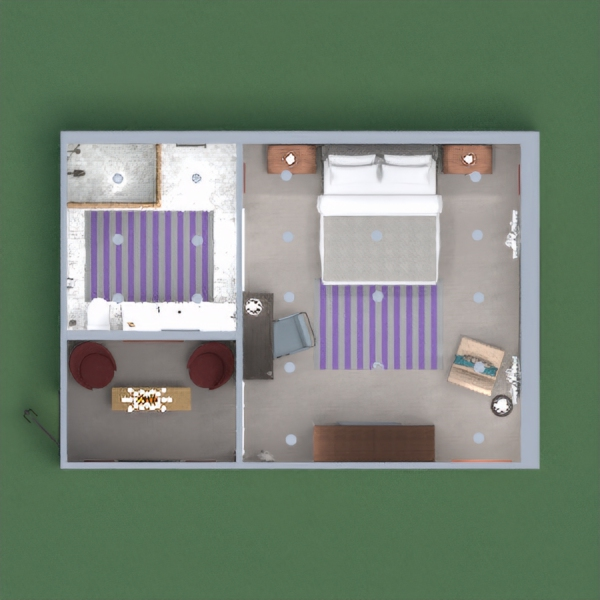 floorplans bagno camera da letto illuminazione 3d