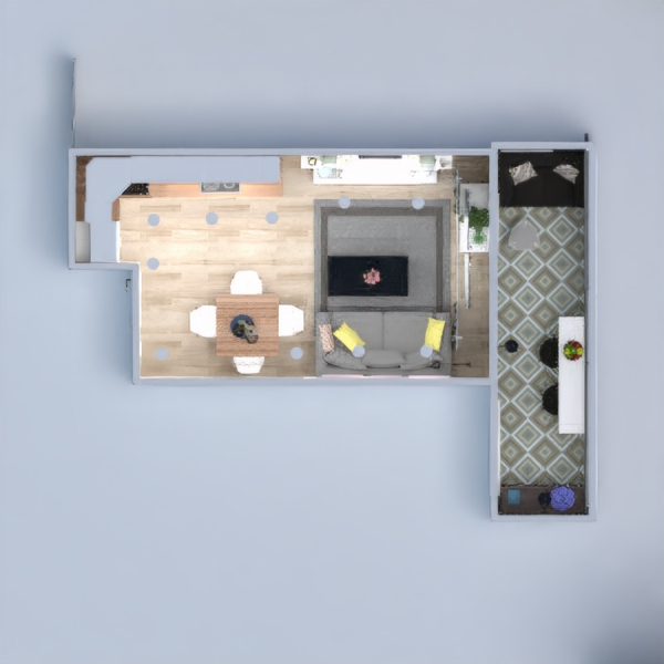 floorplans apartment house furniture decor living room kitchen lighting renovation storage 3d
