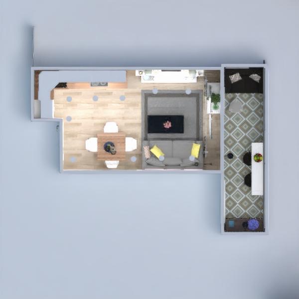 floorplans wohnung haus mobiliar dekor wohnzimmer küche beleuchtung renovierung lagerraum, abstellraum 3d