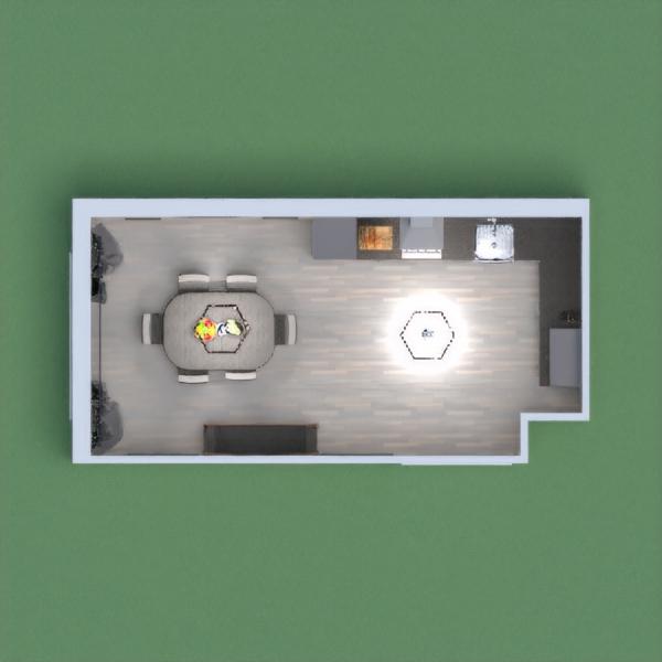 floorplans muebles decoración cocina iluminación 3d