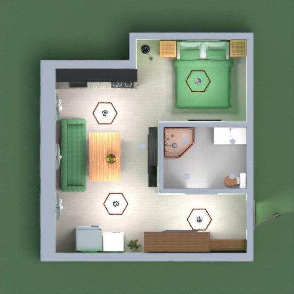 Маленькая квартирка в зелёных тонах