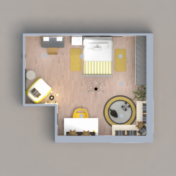 Huge bedroom for a child between the ages of 6 and 12. Multiple features were added to grow with the child and stay timeless. There are areas to play, study, relax, rest, and enjoy!