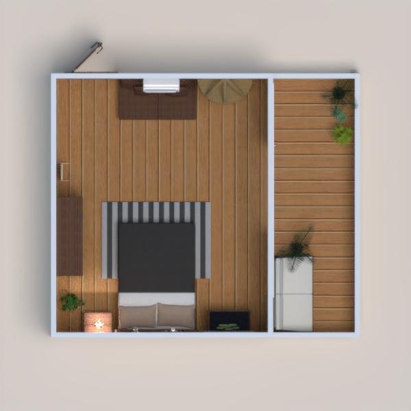 Çoğu tahta renklerinde bir yatak odası ve balkon tasarladım... Otantik bir havası olsun istedim..