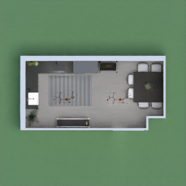 My project is a dark kitchen mixed with modern and an L shape kitchen.
