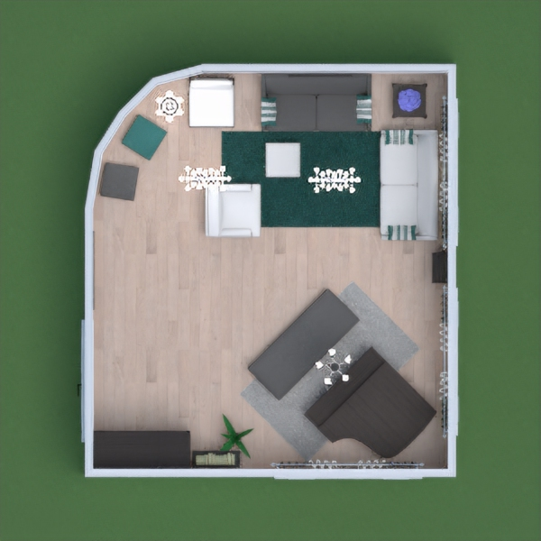 this is my living room, the colour theme is white, grey and teal. i hope u like it, pls vote