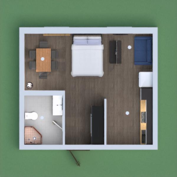 esta casa es pequeña con espacio hasta para dos personas, esta casa tiene una cocina, un comedor, una sala pequeña un baño y una cama. esta casa esta muy chica pero las ventanas hace que se vea mas amplia y con mas espacio