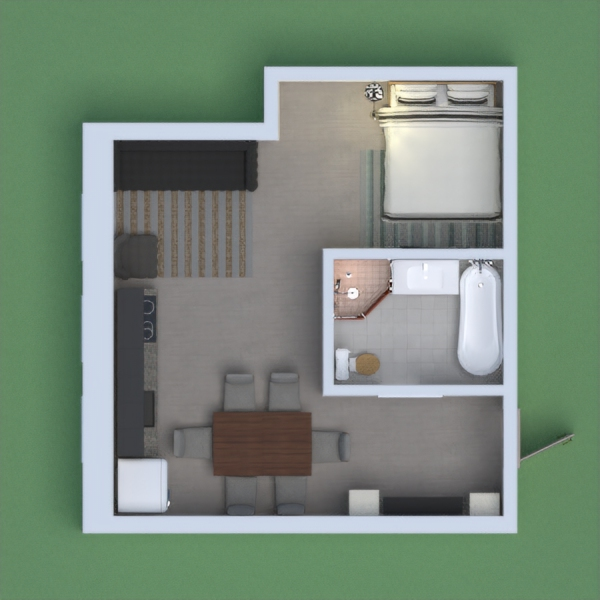 it is a small  modern the apartment