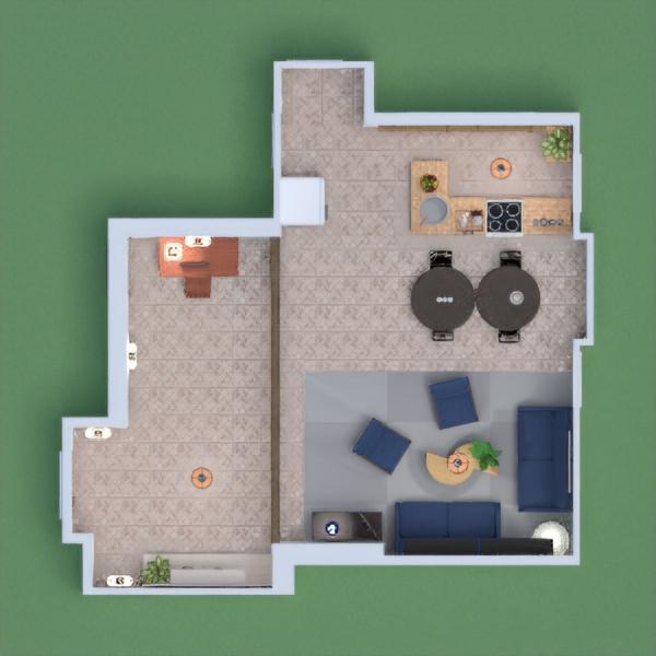 monolocale con ingresso, salotto e piccola cucina