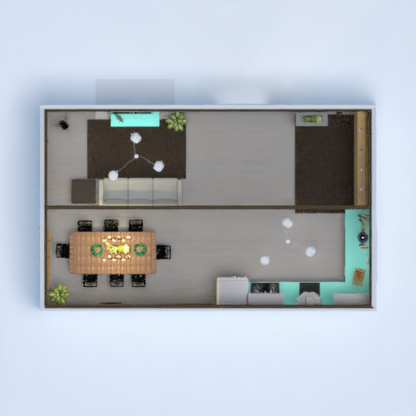 This is a modern, well lighted space with a comfortable living room and a nice kitchen and a small mud room-type space and a nice dining area as well. This took me a long time to make so I hope you like it!! Please vote if you like it. :)