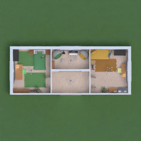 Комнаты для сестер одна в зеленых, другая в желтых тонах