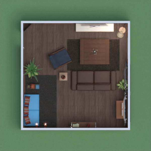 This is a very cozy and chill living room, with lots of artworks all around. It has a TV corner, as well as a little reading nook. Hope you'll like it !!