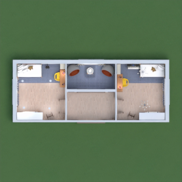 Es una habitación para que 2 hermanas puedan estar cómodas i relajadas.