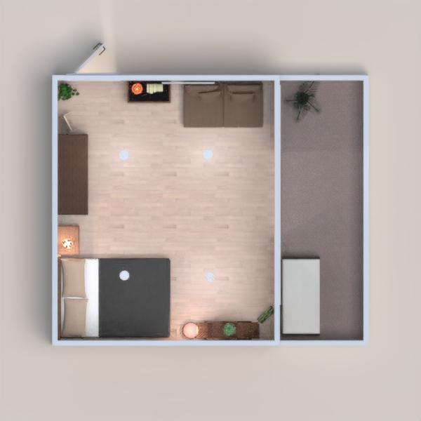 Ein gemütliches Schlafzimmer mit Balkon.