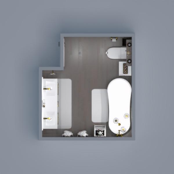 El diseño se adaptó a un área de 7.4 m2, el cual debe incluir un lavabo doble, una bañera y el azul como color predominante. Nos enfocamos en crear un ambiente moderno, con un azul profundo, sutiles detalles dorados y creando una visualización amplia, limpia e iluminada determinada por un blanco frio.