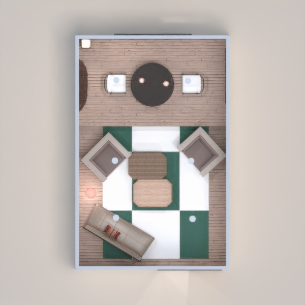 Neutral dining room / living room