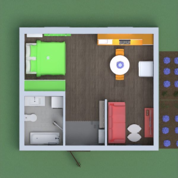 Hi this is My Colorful Apartment!! The one wall near the bed has the colors green, orange, and pink. All those colors are in the furniture!! I tried my best on this, so I hope you like it! I really want to get to the top 5, so pls get me there. Pls vote me, because If you do, I will vote you!! I hope you like it! STAY SAFE! Thanks! ;-)        Benjamin Button Lover