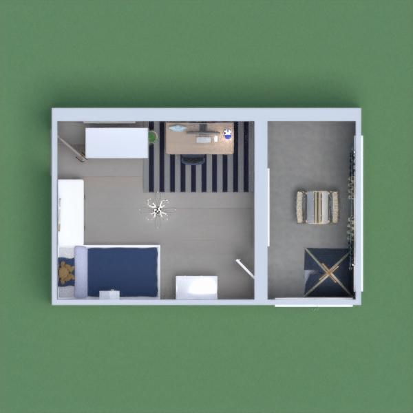 chambre bleu avec balcon