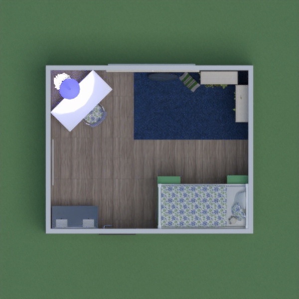 This room is cool because it has a lot of different areas for different activities. An area for reading and relaxing, and area for working and an area for beauty. Leave a comment and let me know what your thoughts are. Please vote for me!
