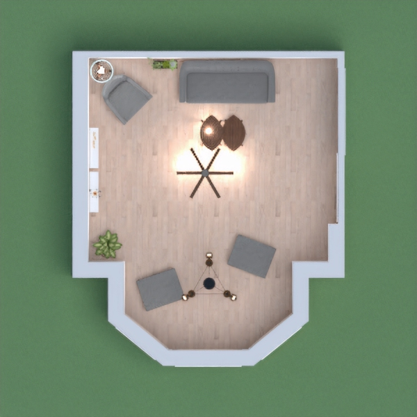 SImple living room with basicness and calmness.