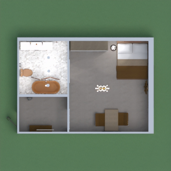 Hotel room with different shades of brown. Shower/bath has a privacy screen. You can eat while watching tv. I would appreciate it if you gave honest comments on my hotel room. Please do not copy and paste. If you give an honest comment then I will comment and vote on your page.