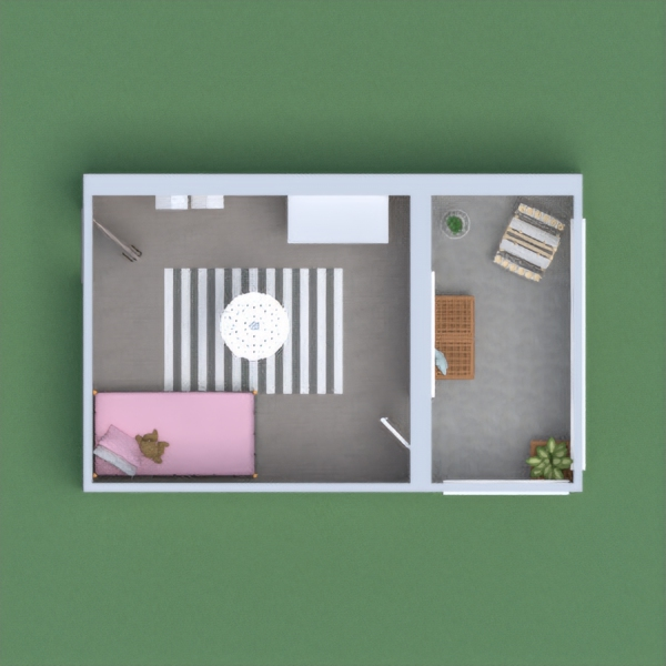 a cute, pink, little girl's room.