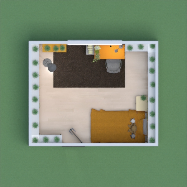 Here is my bedroom design. As you can see, yellow is the theme color and there are is lot of space for books. I hope you enjoy it and I can't wait to check out your projects!