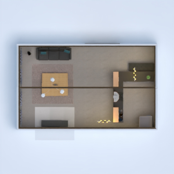 My WC&M kitchen and living room!