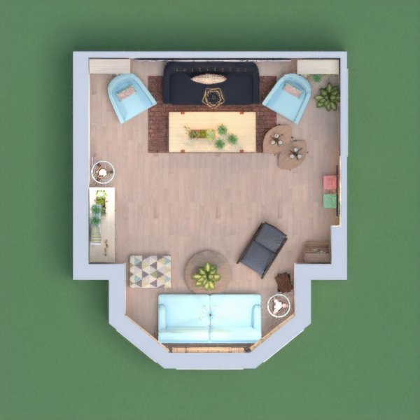 I intended when designing this room to create a bright colored space that overwhelms people with freshening yet calm spring vibes. I spent so much effort and I guess its not bad as a first try hope u like it