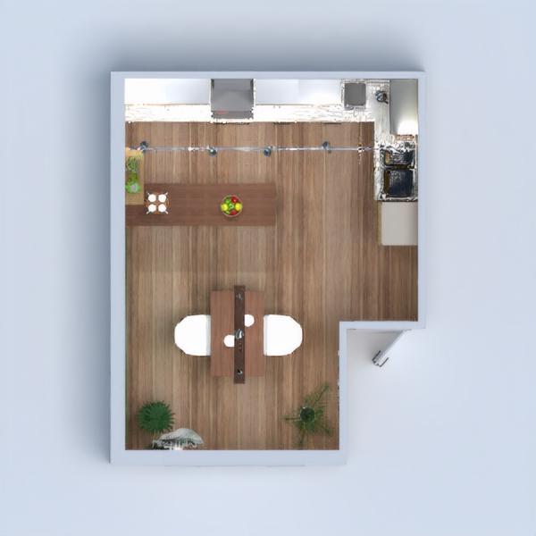Modern wooden spring kitchen