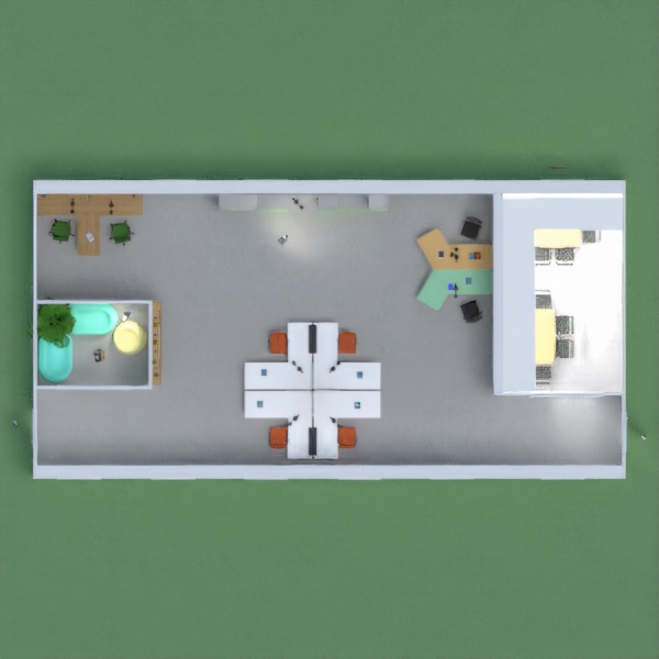 Hi! Ink here, i made a nice office with a job/sign up room and a meeting room, also did anyone else get the premium feature? I can't change the wood or anything. :'(