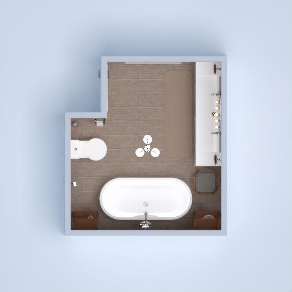 Beige brown bathroom