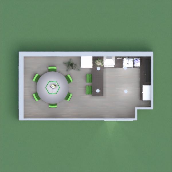Dark and practical kitchen