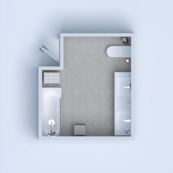 A minimalist cute modern bathroom.