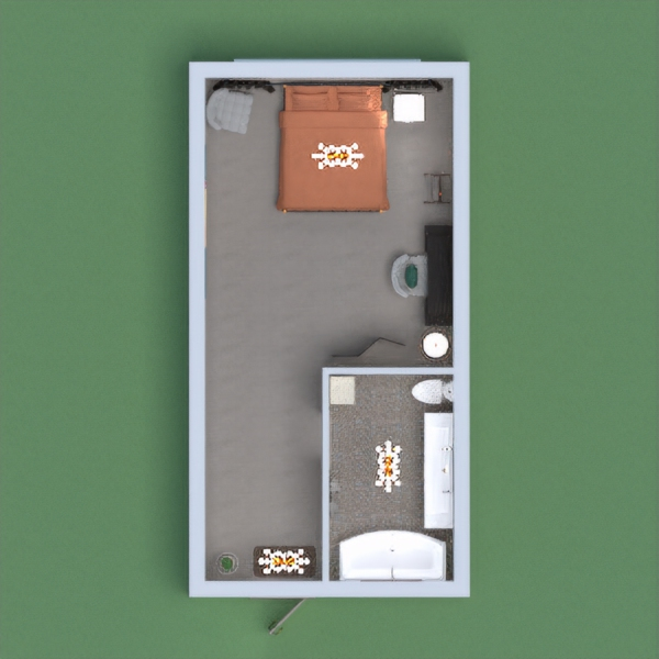 I made a nice bedroom with a bathroom.