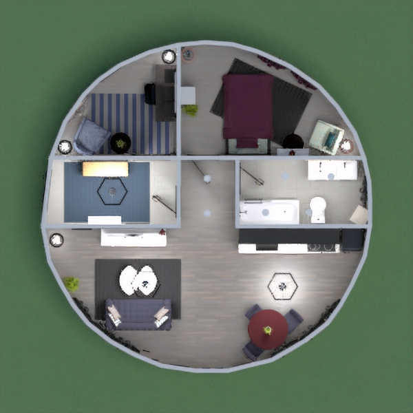 My Modern take on a round house. I hope you like it :)