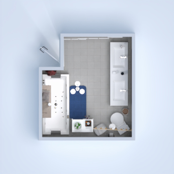 This is a suburban bathroom created by: Nancy Lee (Me) I hope you like this bathroom.