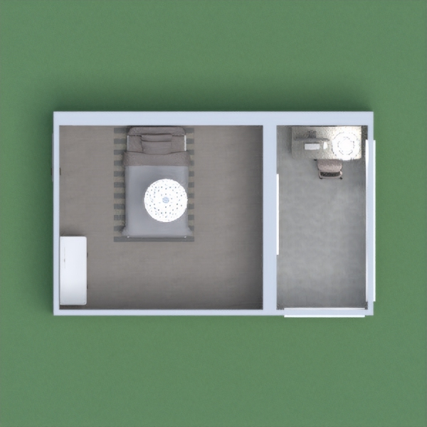 This is my modern bedroom and office/balcony.  Este es mi dormitorio moderno  y officee balco'n