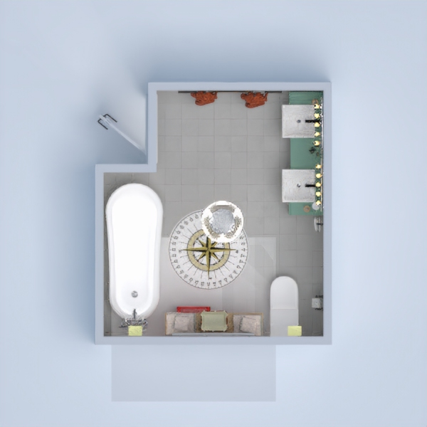 My project is a modern, farm designed bathroom .