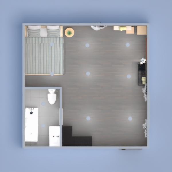 Esto es una habitación de invitados con un baño moderno.