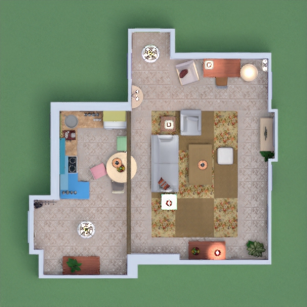 So, I was a little late this time because, idk why but it wasn't letting me design anything until today. So, I decided to actually do Monica's apartment, since I didn't know what else to do. This was all by memory so sorry if it isn't very good. Enjoy!