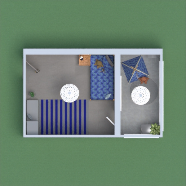Blue room for girl or for boy. It is in flat with balcony. I hope you will like.
