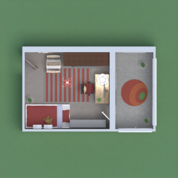 Red bedroom with balcony! Please vote!