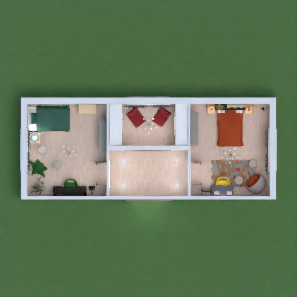 I really like the idea of two sisters that have bedrooms that are yellow and green because those colors really go together and I also love the idea of the rooms being connected by a foyer with a relaxation room! I really hope you all like my design because it truly is one of my best!