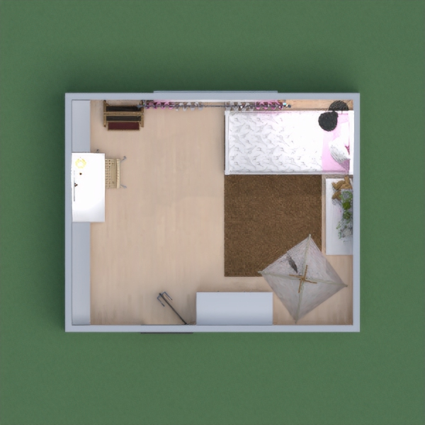 Simple girl's bedroom with study area and sleep/play area.   Thank you for voting for me.   Tell me and I will vote back.