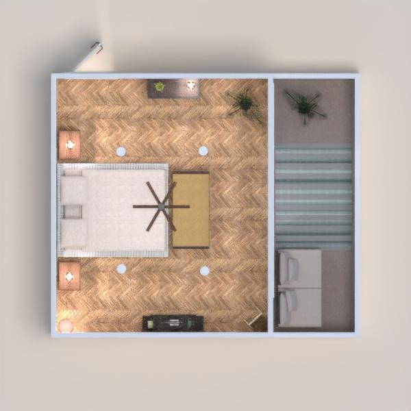 Camera da letto essenziale per residenza fronte mare.