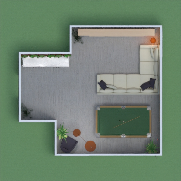 Game room with earth and modern touches.